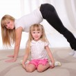Little girl and her mother — Stock Photo #4522353