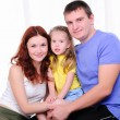 Mother, a young father and young daughter — Stock Photo #4525923
