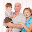 Grandmother, grandfather and grandson — Stock Photo #4525937
