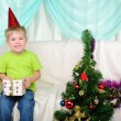Little boy getting ready for the holiday — Stock Photo #4525985