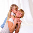 Little girl and her mother — Stock Photo #4533835