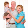 Grandmother, grandfather and grandson — Stock Photo #4534056