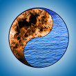 Stock Photo: Symbol of yin and yang of background.