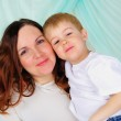 Little boy and his mom — Stock Photo #4539959