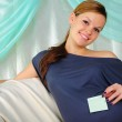 Portrait of a young pregnant girl — Stock Photo #4539990