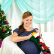 Portrait of a young pregnant girl — Stock Photo #4539995