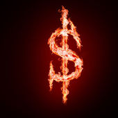 Symbole d'argent ouvrez armes à feu — Photo