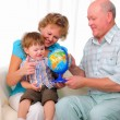 Grandmother, grandfather and grandson — Stock Photo #4548361