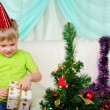 Little boy getting ready for the holiday - Stock Photo