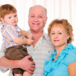 Grandmother, grandfather and grandson — Stock Photo #4549971