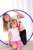 Little girl and her mother — Stock Photo