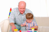 Grandfather and his grandson — Stock Photo