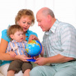 Grandmother, grandfather and grandson — Stock Photo