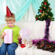 Little boy getting ready for the holiday — Stock Photo
