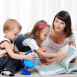Young mother, her daughter and young son — Stock Photo #4567253