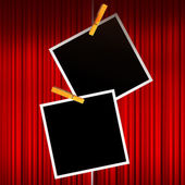 Dark frame with a pin — Stock Photo