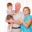 Grandmother, grandfather and grandson — Stock Photo #4574686