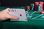 Place a poker player — 图库照片