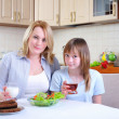 Mom and young daughter — Stock Photo #4589944