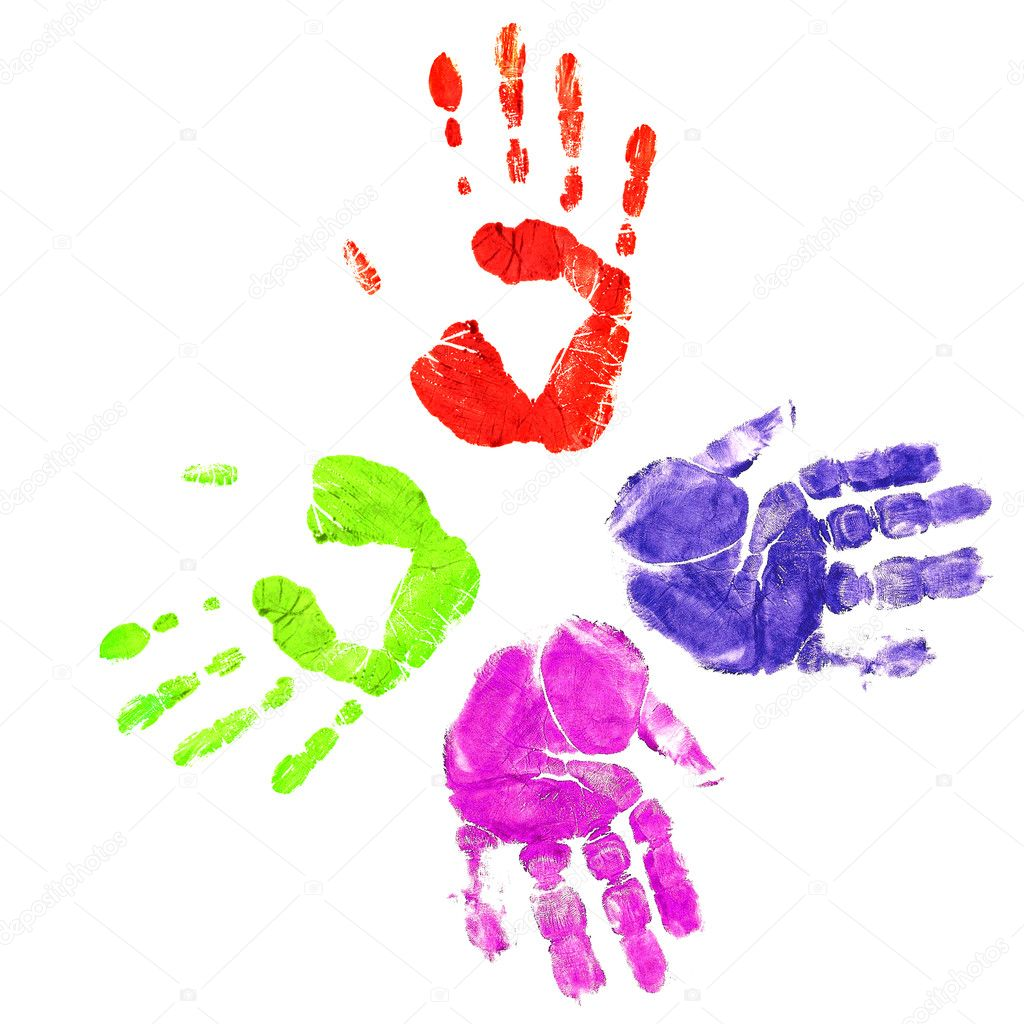 Handprints in differen...