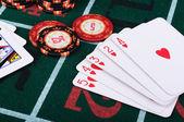 Místo hráče pokeru — Stock fotografie