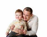 Portrait of a father with his little son — Stock Photo