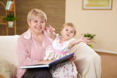 Grandmother and her grandaughter — Stock Photo