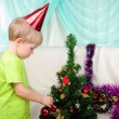 Little boy getting ready for the holiday — Foto de Stock