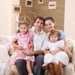 Young family at home with a daughter - Lizenzfreies Foto