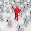3D man in a crowd — Stock Photo #4724353