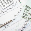 Stock Photo: Financial charts and graphs