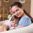 Young mother with a daughter at home — Stock Photo #4727547