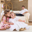 Two little sisters together — Stock Photo