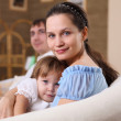 Young mother with a daughter at home — Stock Photo #4729451