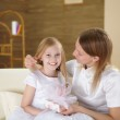 Mother with teenager daughter at home — Stock Photo #4729472
