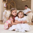 Two little sisters together — Stock Photo #4729473