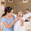 Young mother with a daughter at home — Stock Photo #4729484