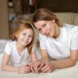 Mother with teenager daughter at home — Stock Photo #4729651
