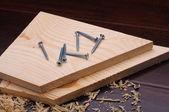 Wood shavings — Stock Photo