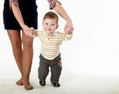 Little baby learning how to walk — Stock Photo