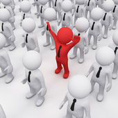 3D man in a crowd — Stock Photo
