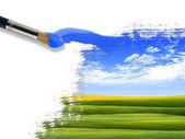 Sommaren natur bild med en pensel — Stockfoto