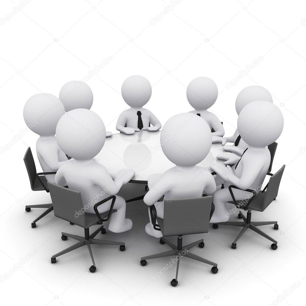Hombre 3d en reuniones de negocios foto de stock 169 sergeynivens