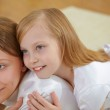 Mother with teenager daughter at home — Stock Photo #4731212