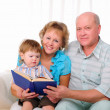 Grandmother, grandfather and grandson — Stock Photo #4734058