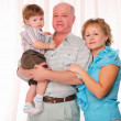 Grandmother, grandfather and grandson — Stock Photo #4734290