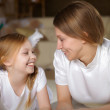 Mother with teenager daughter at home — Stock Photo #4736564