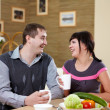Couple at home having meal — Stock Photo #4737749