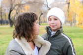 Mother and son together — Stock Photo