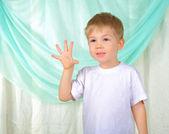 一个年轻男孩的肖像 — 图库照片